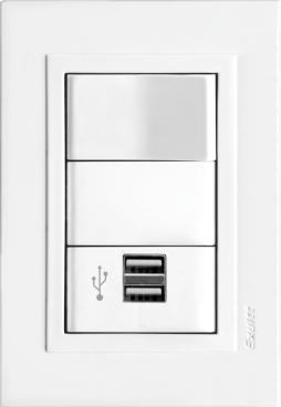 1 USB doble conector 1 interruptor 10 A 03612 02