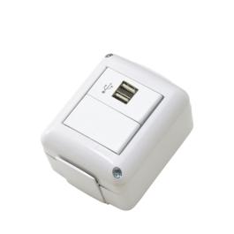 1 toma USB doble conector 07617 02